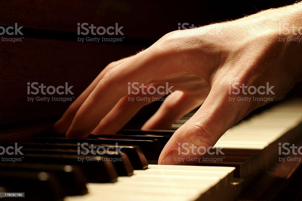 Piano Hand royalty-free stock photo