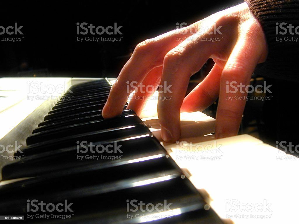Piano hand stock photo