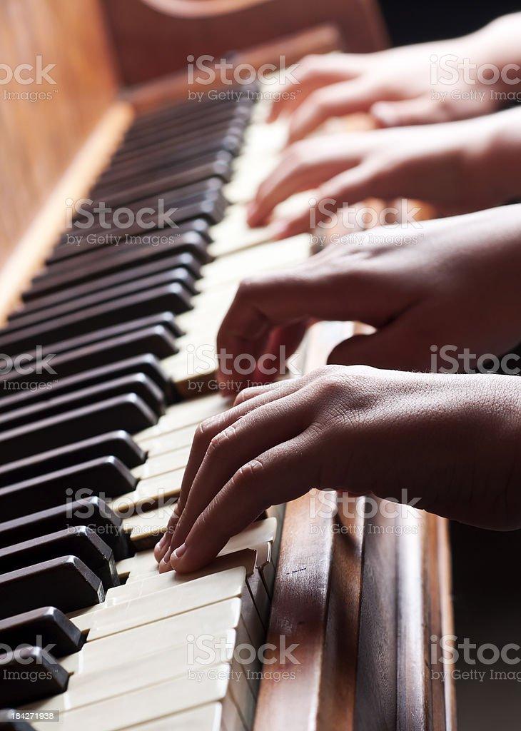 Piano Hands stock photo