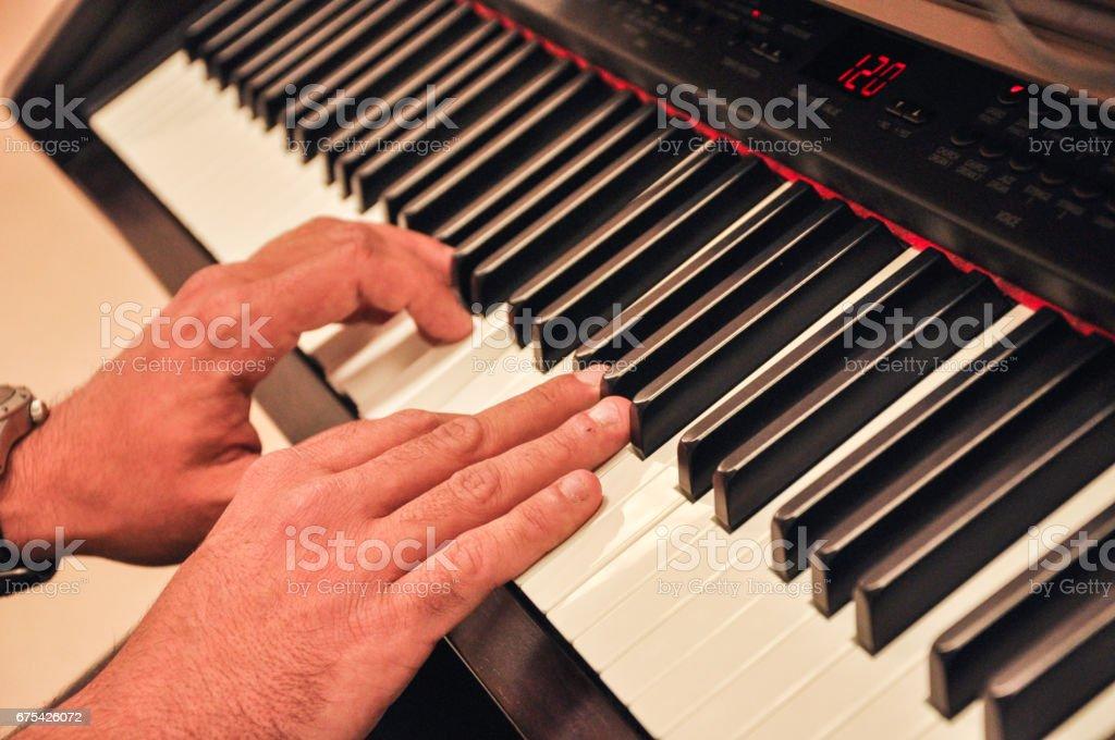 Piano Hands photo libre de droits