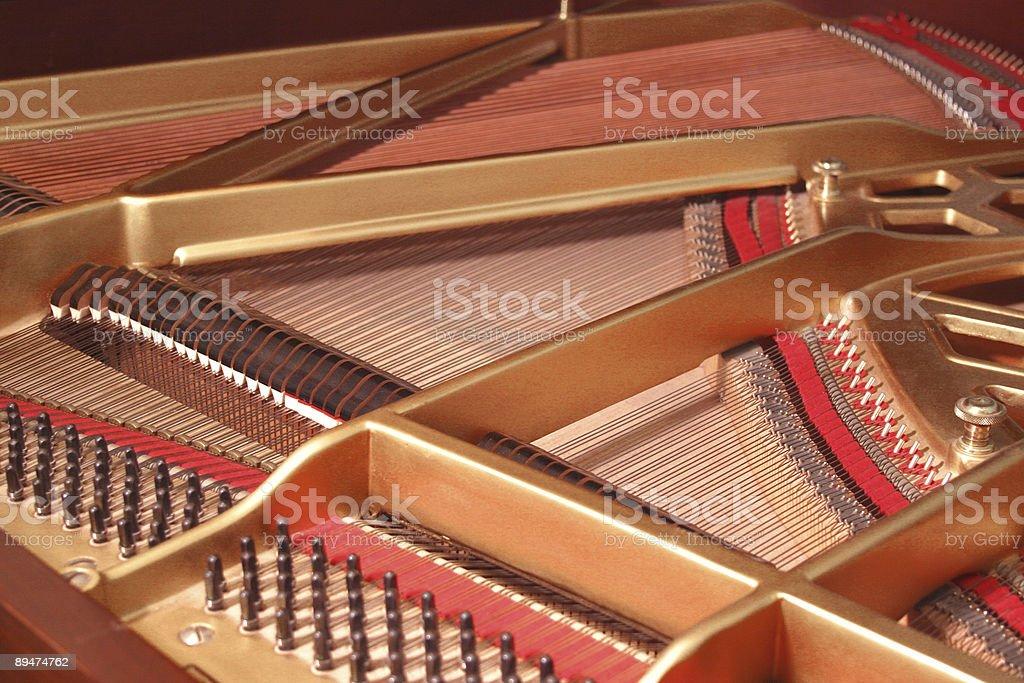 Piano Harp stock photo