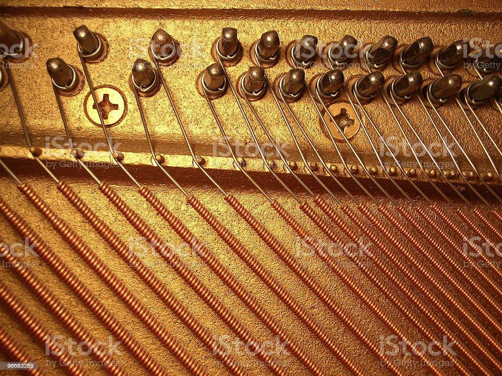 Piano harp royalty-free stock photo