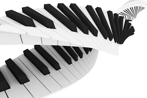 Double helix keyboard.