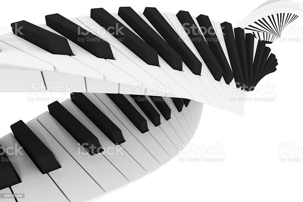 Piano - helix stock photo