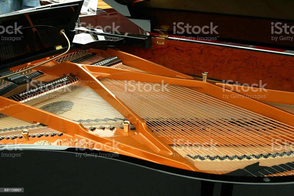 Piano Inside stock photo