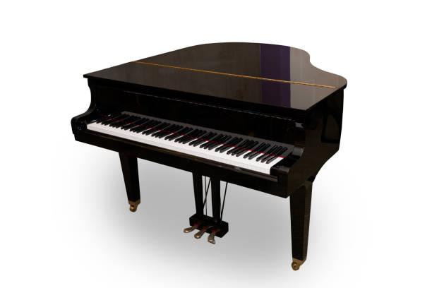 Klavier, isoliert auf weißem Hintergrund. – Foto