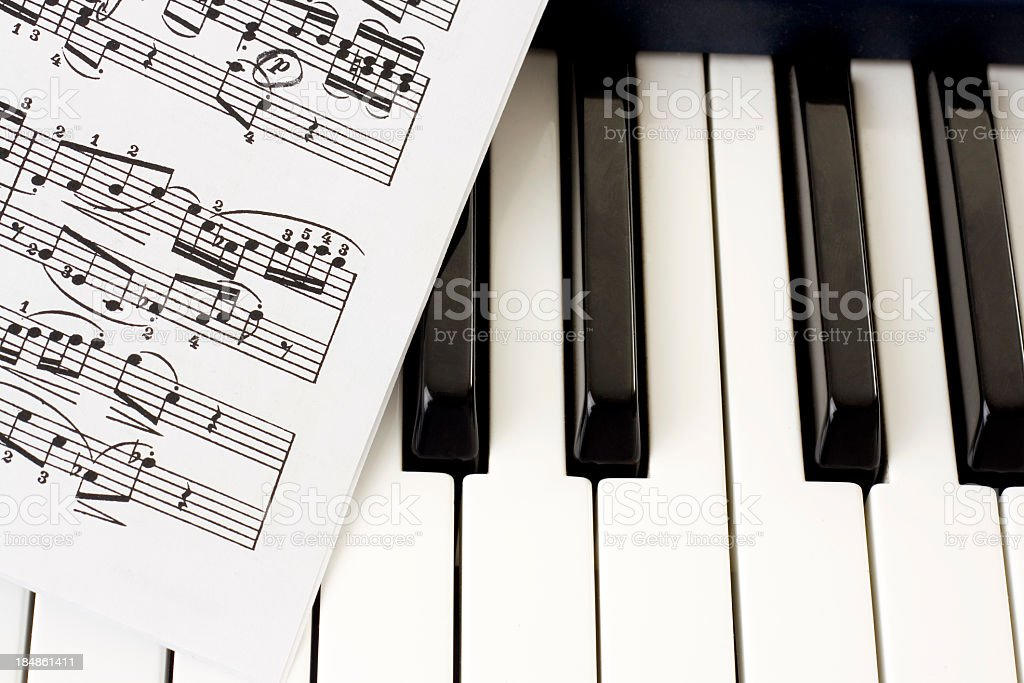 Piano Key stock photo