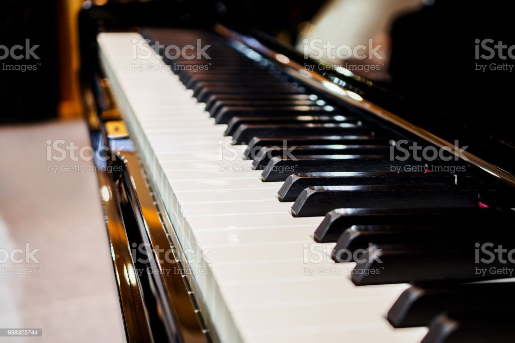 Piano Keyboard Background Musical Instrument Stock Photo - Download Image  Now