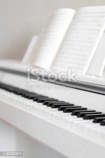 istock Piano keyboard closeup 1162332874