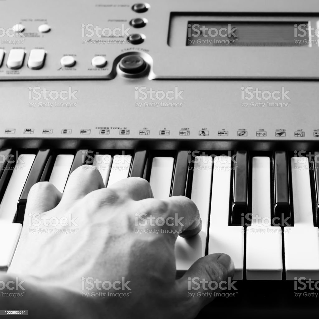 Piano Keyboard Music Instrument Vintage Retro Effect Stock Photo - Download  Image Now