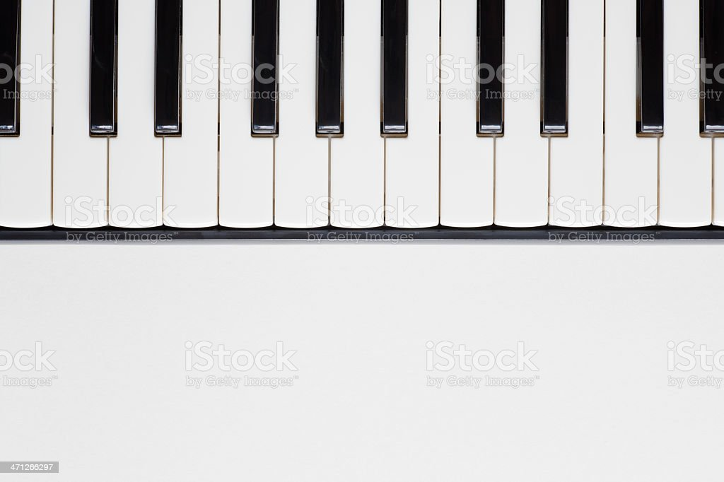 Piano keyboard royalty-free stock photo