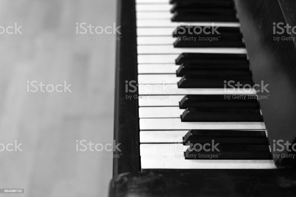 piano keys black and white color royalty-free stock photo