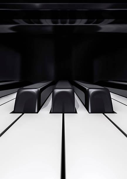 Touches de Piano gros plan - Photo