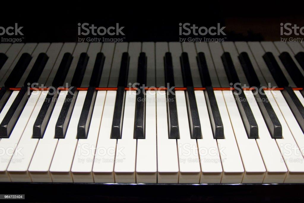 Piano Keys, Close-up royalty-free stock photo