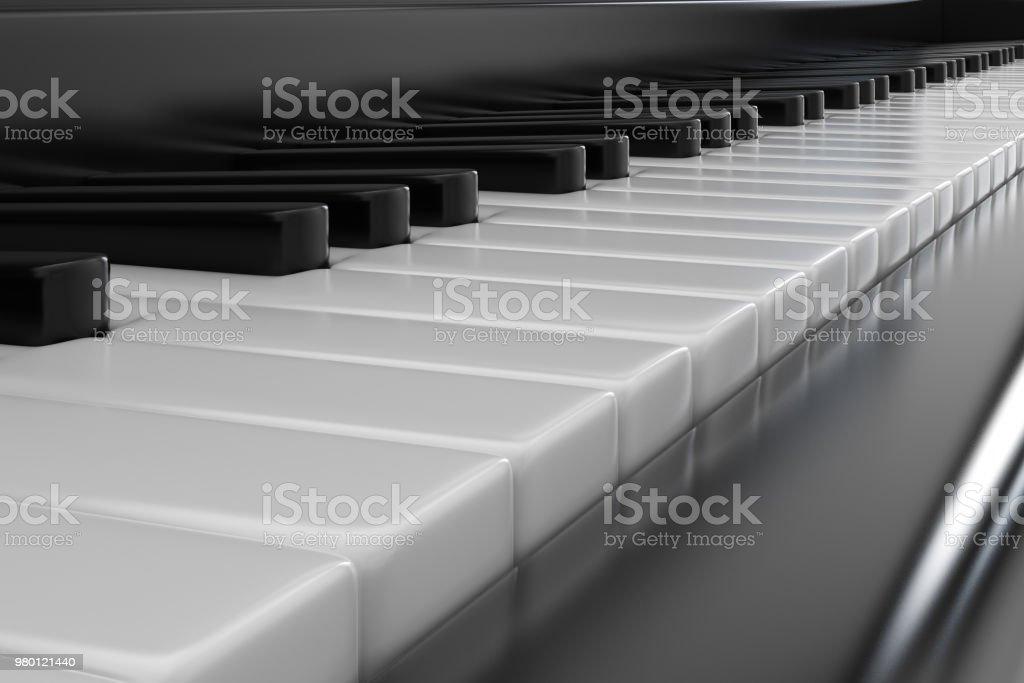 Piano keys closeup stock photo