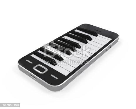 istock Piano Keys in Mobile Phone 487852199