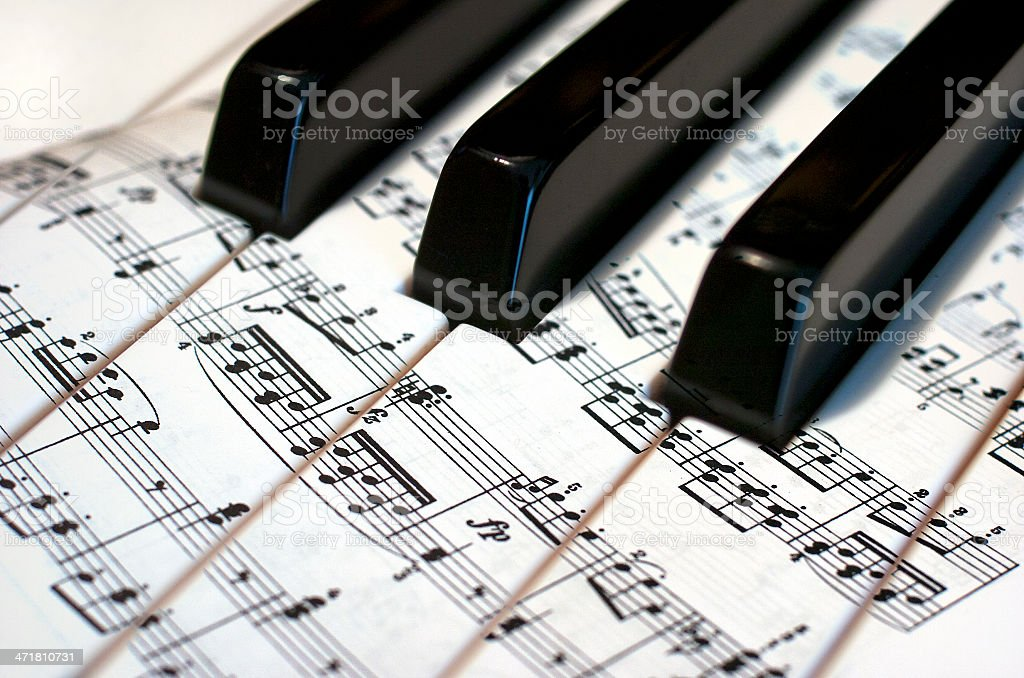 Piano keys. Music. stock photo