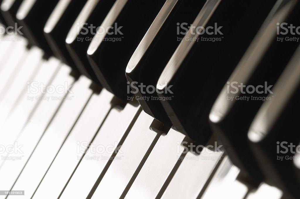 Piano keys - Musical Instrument (series) royalty-free stock photo