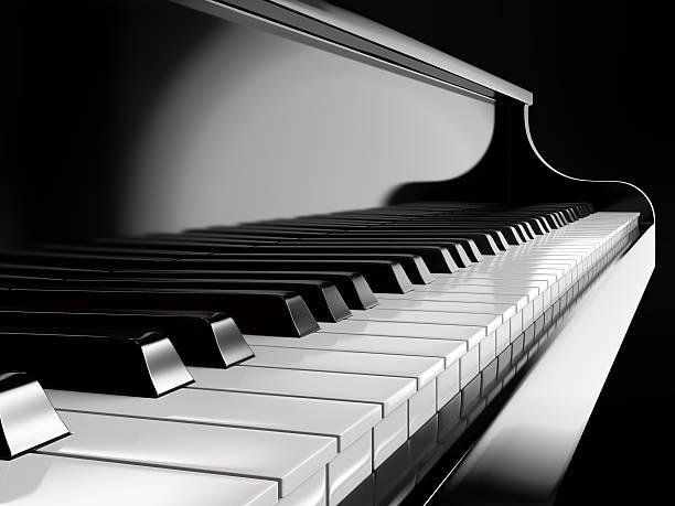 touches de piano au piano à queue noire - piano photos et images de collection