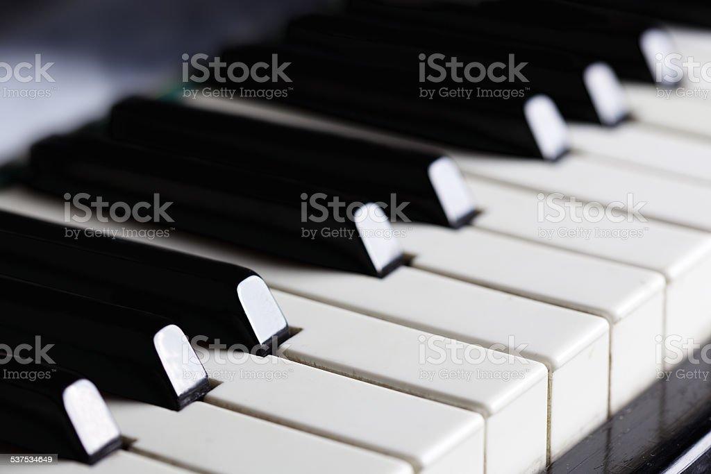 Piano keys stock photo