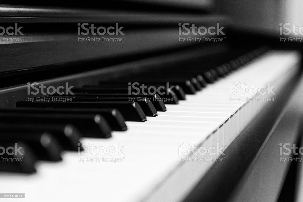 Piano Keys Upclose stock photo