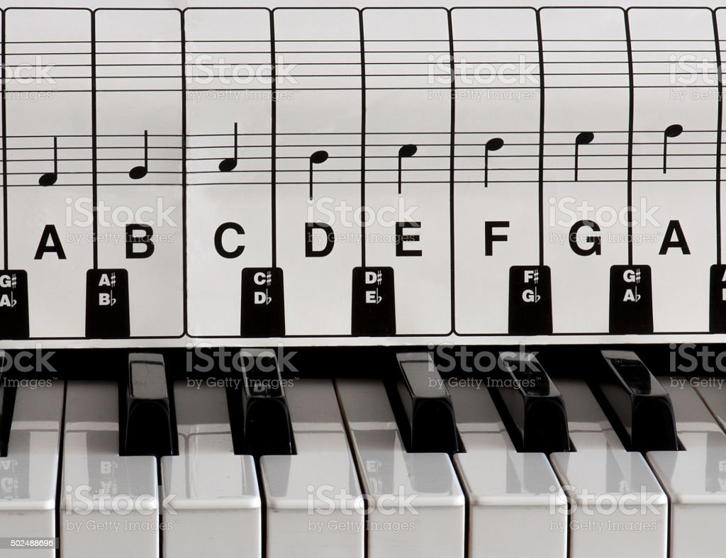 Piano Keys With Sheet Music Stock Photo More Pictures Of 2015 Istock