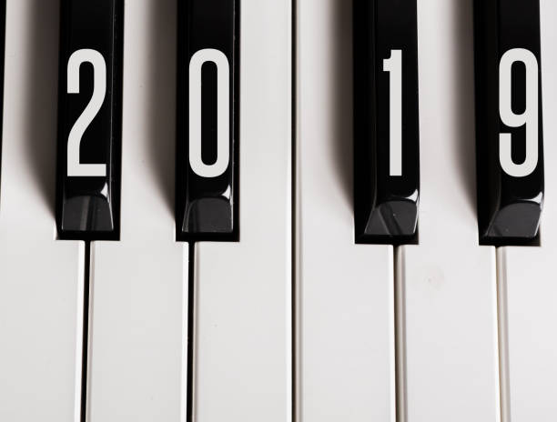 touches du piano écrit 2019 - introduction musique photos et images de collection