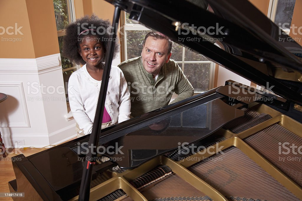 Piano lesson royalty-free stock photo