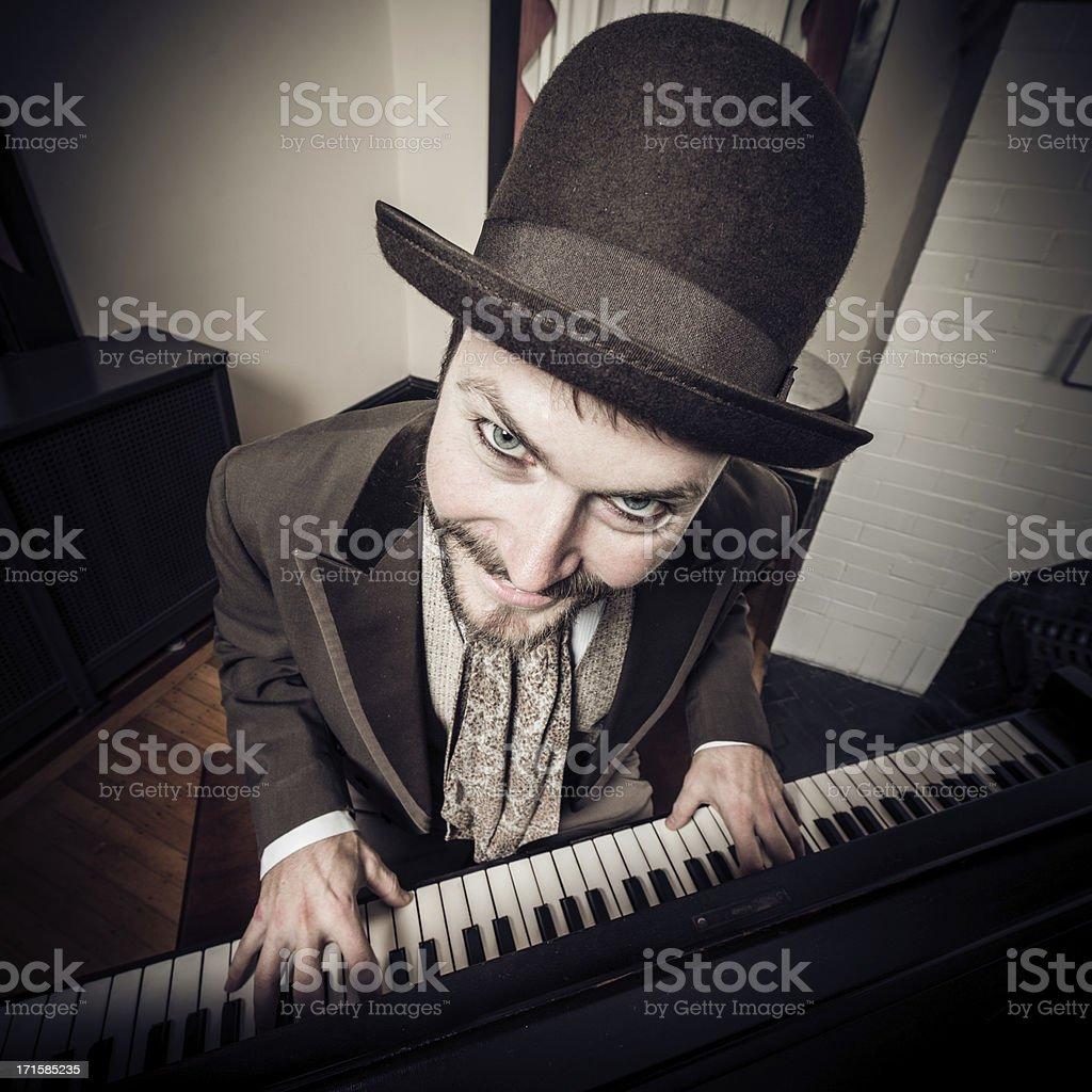 Piano Man stock photo