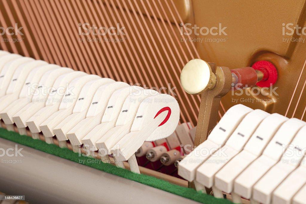 piano mechanic royalty-free stock photo