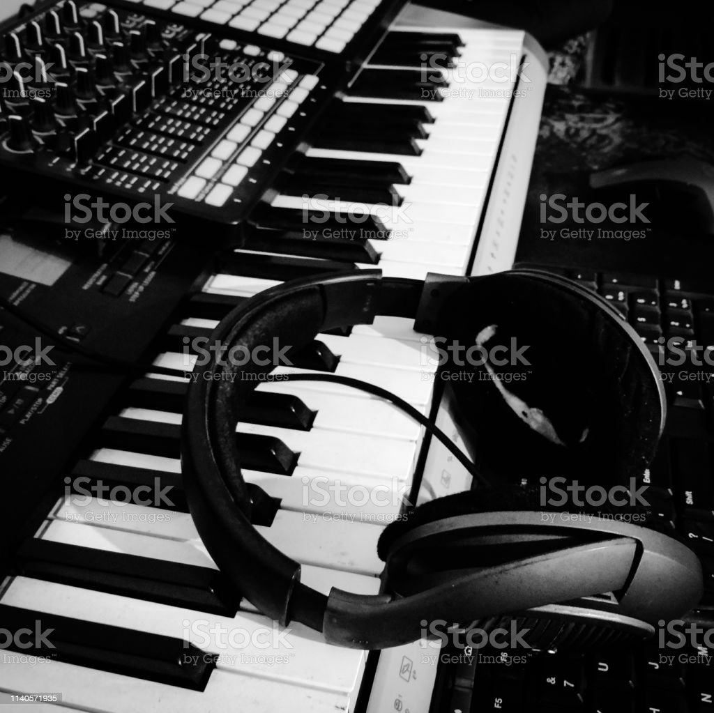 Piano Music Composing Instrument Stock Photo - Download