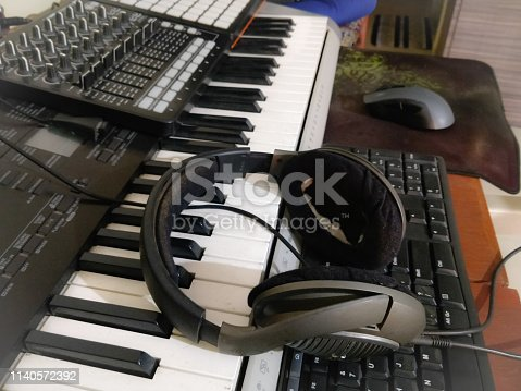 istock Piano music composing instrument 1140572392