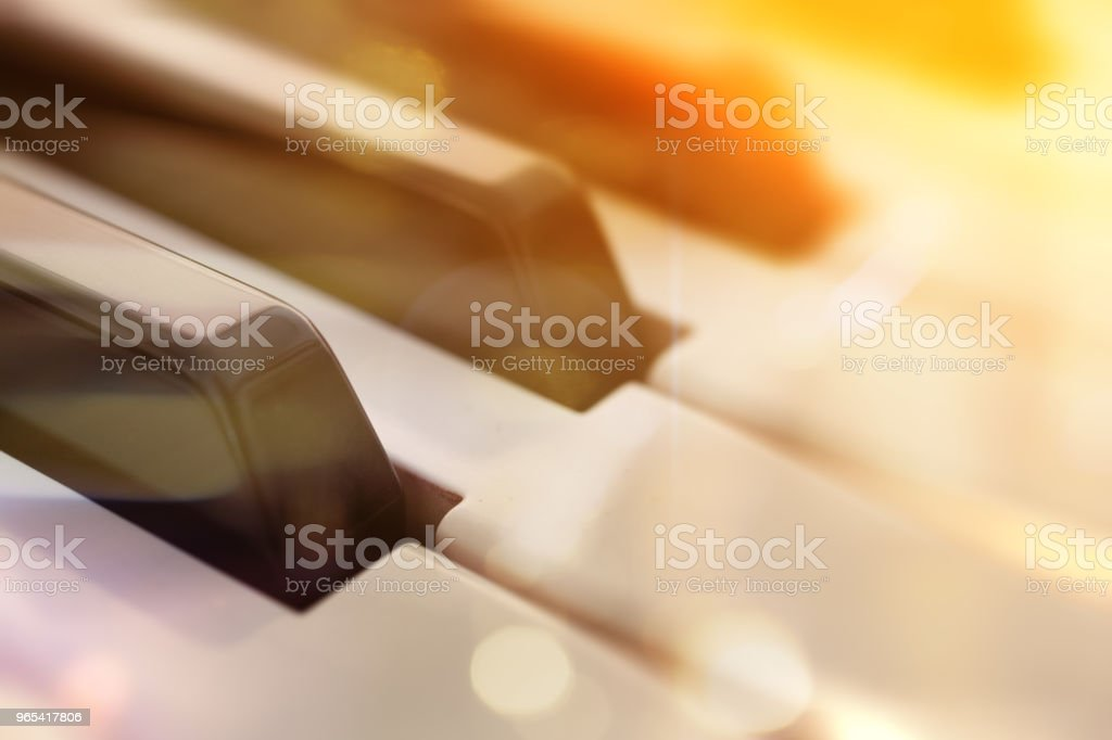 Conceito de música de piano - Foto de stock de Abstrato royalty-free
