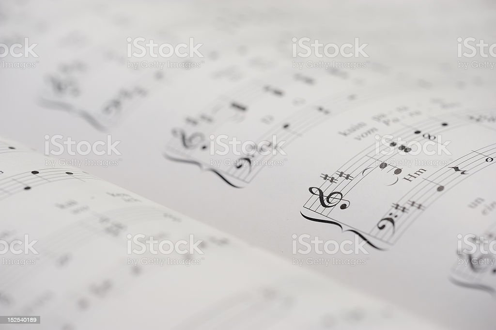 Piano note book royalty-free stock photo