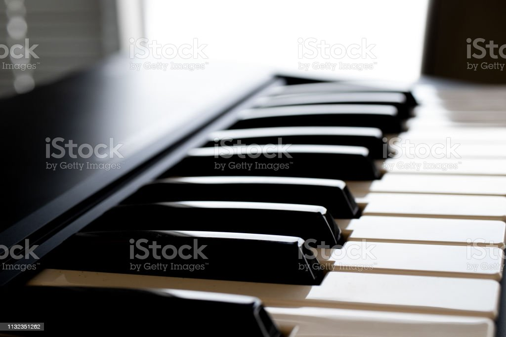 Piano Notes On A Keyboard Piano With A Clear Background