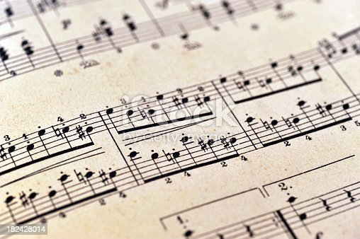 istock piano notes sheet music - Klaviernoten 182428014