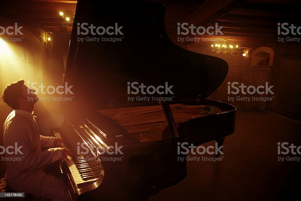 Piano Player royalty-free stock photo