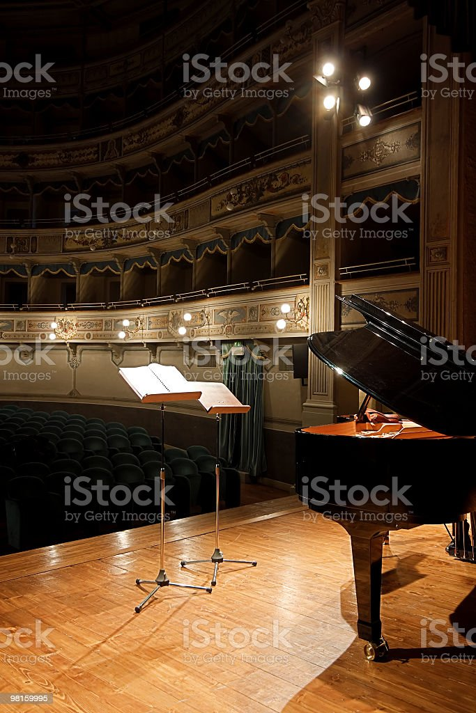 Piano recital royalty-free stock photo