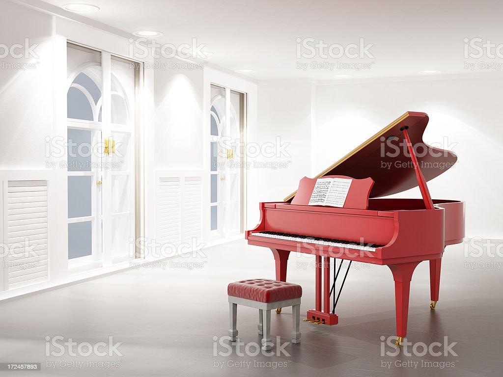 Piano room stock photo