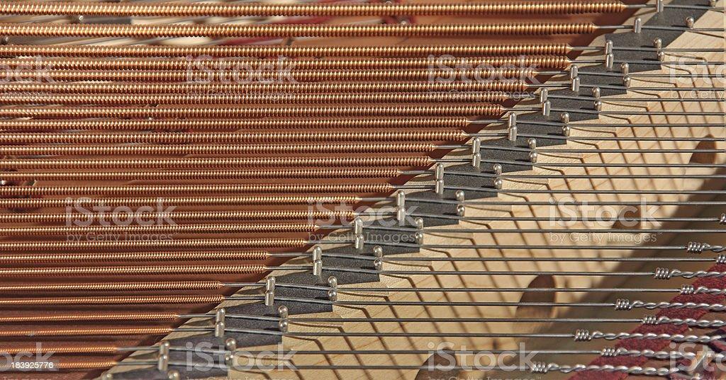 Piano strings royalty-free stock photo