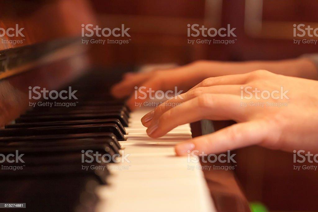 Piano time stock photo