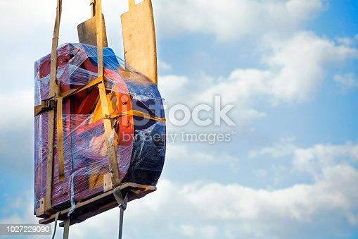 istock Piano transportation blue sky 1027229090