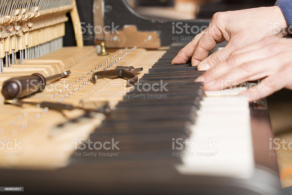 Piano tuning tool stock photo