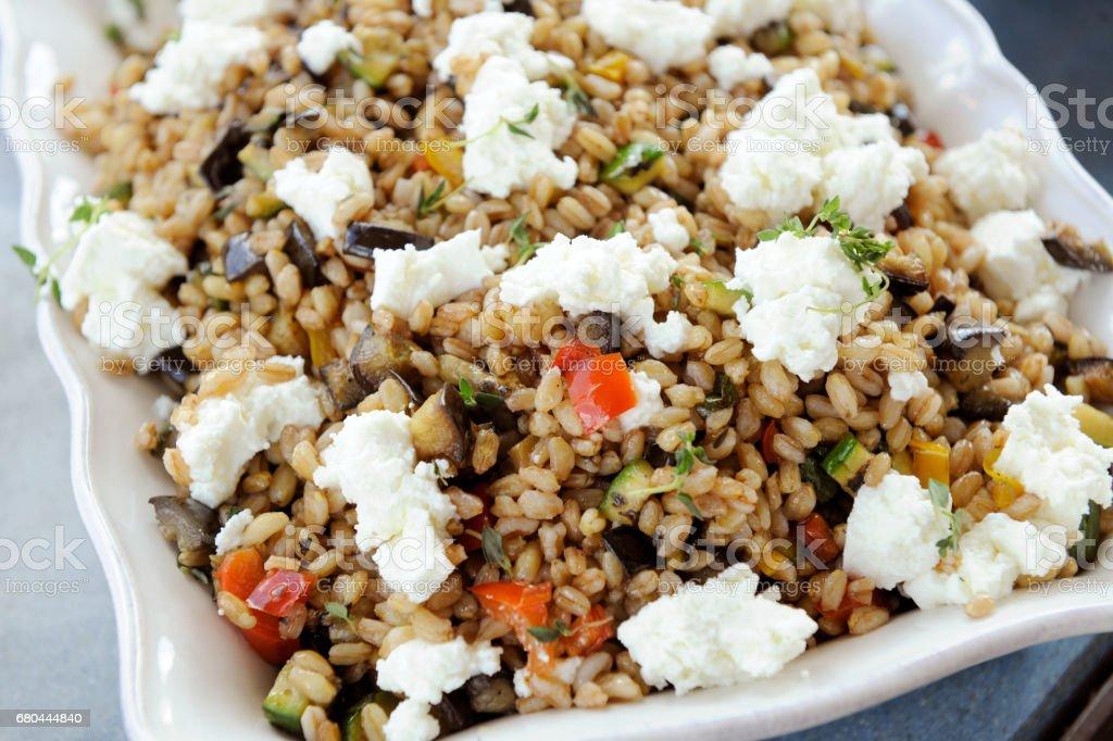 piatto vegetariano stock photo