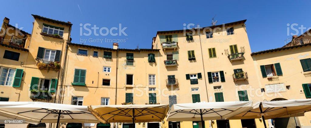 Piazza Anfiteatro - Lucca Tuscany Italy royalty-free stock photo