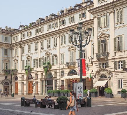Piazza Carignano in Turin