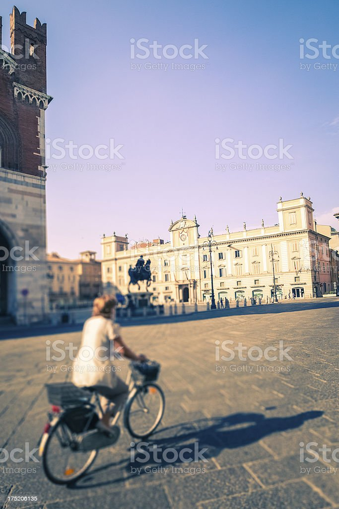 Piazza Cavalli in Piacenza, Italy. royalty-free stock photo