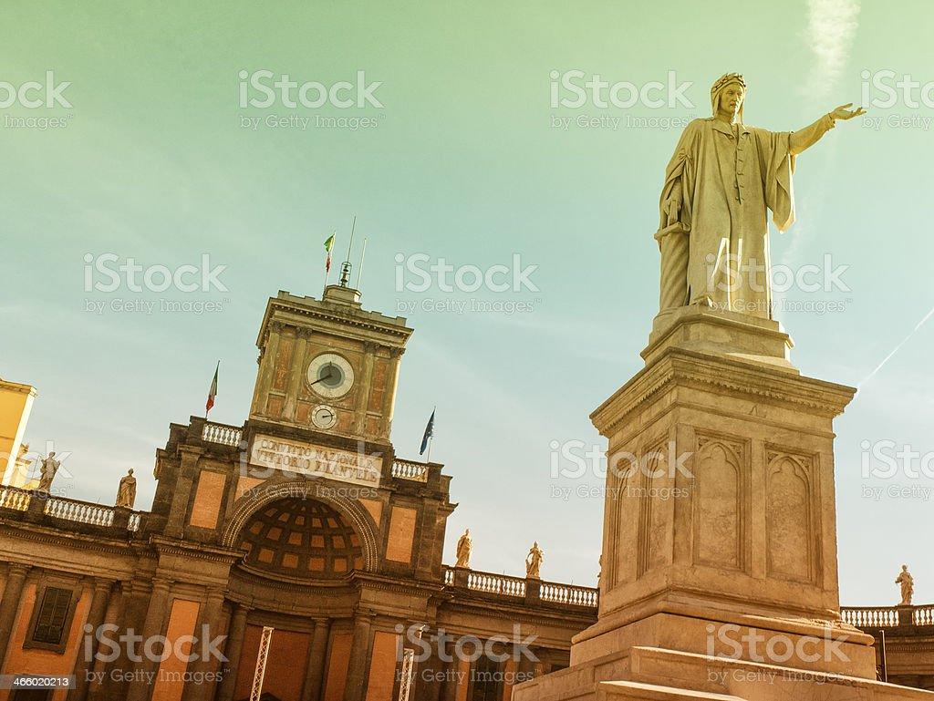 Piazza Dante in Naples, Italy stock photo