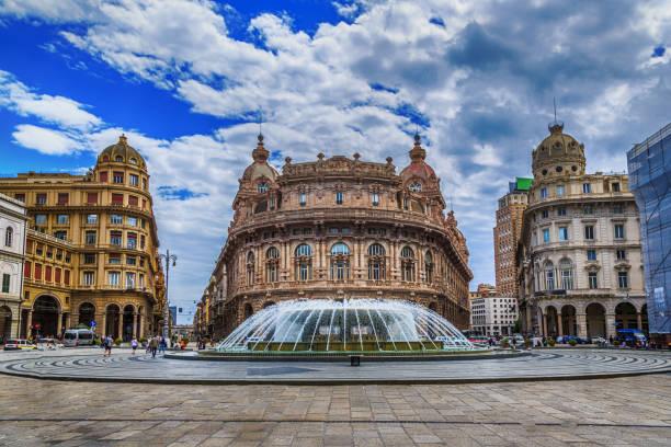 Piazza De Ferrari Hauptplatz in Genua – Foto