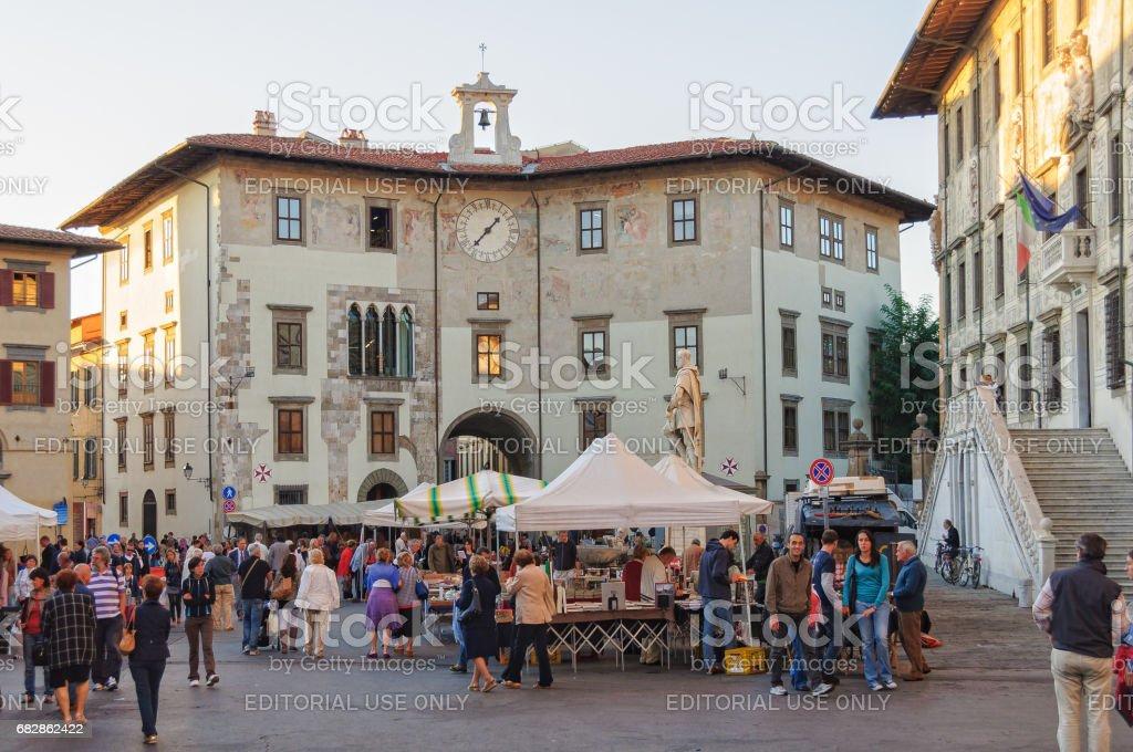Piazza dei Cavalieri - Pisa stock photo